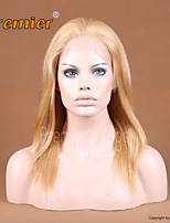12''-24'' Blonde #27 Color Chinese Virgin Remy Human Hair Wigs Full Lace Wigs With Baby Hair For White Women