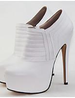 Homme Chaussures de mariage Talons/A Plateau/Bout Arrondi Talons Mariage/Extérieure/Bureau & Travail/Soirée & Evénement Blanc