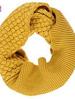 Waboats Winter Women Knitted Cross Pattern Solid Infinity Loop Scarf