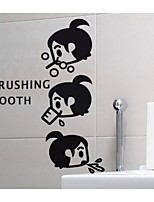The Little Girl Brushing The Wall Stickers