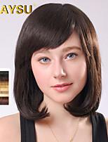 cheveu humain ondulée pour la femme remy vierge mono top cheveux de longueur moyenne