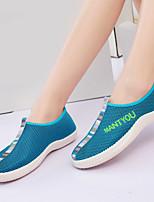 Zapatos de mujer Tul Tacón Plano Comfort/Bailarina/Punta Redonda Planos/Sneakers a la Moda Exterior/Casual Azul/Negro/Rosa/Naranja