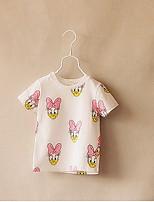 Cartoon Children Round Neck T-shirt