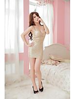 Vêtement de nuit Femme Nuisette & Culottes/Lingerie en Dentelle/Ultra Sexy/Body/Uniformes & Tenues Chinoises Mélanges de Coton