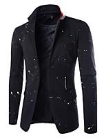 Men's Casual/Work/Formal Print Long Sleeve Regular Blazer