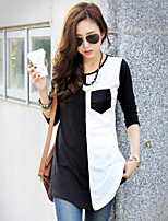 Women's Casual Micro-elastic ¾ Sleeve Long T-shirt (Cotton)