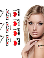 Sex Love Pistol Eiffel Tower Tattoo Stickers Temporary Tattoos(1 Pc)