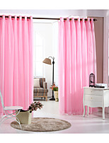 One Panel Pink Solid Double Layer Curtain