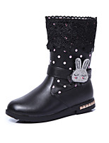 Girls' Shoes Outdoor/Dress/Casual Round Toe/Closed Toe Faux Boots Black/Pink/Red