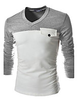 Men's Casual Long Sleeve Regular T-Shirt (Cotton)