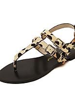 Women's Shoes Flat Heel Open Toe Sandals Casual Yellow/White