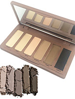 6 Colors Matte Satin Texture Basic Eyeshadow Makeup Cosmetic Palette Bare Smoky Urban Decay Color with Mirror