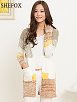 Women's Casual Stretchy Medium Long Sleeve Cardigan (Knitwear)SF7D20