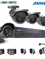annke® 4ch AHD-l 960H dvr eCloud hdmi 4pcs uscita 1080p / VGA / BNC 900tvl CMOS 42leds giorno / notte telecamere IR-cut IP66
