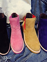 Women's Shoes Faux Leather Chunky Heel Combat Boots Boots Casual Black/Blue/Yellow/Pink
