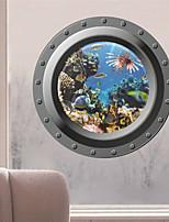 stickers muraux autocollants de mur, les poissons de l'océan 3d sticker mural PVC fenêtre