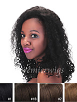 2015 New 12''-22'' Kinky Curly Remy Virgin Brazilian Human Hair Wigs Lace Front Wigs With Baby Hair For Black Women
