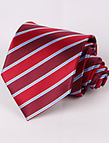 Red And Light Blue Striped Tie #PT059