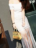 Women's White Skirts , Sexy Asymmetrical
