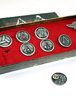 alliage de croyance les 7pcs emblème Assassin fixés