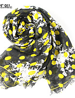 LA BEAU 2 Color Women Fashion Dot Scarf Long Shawl