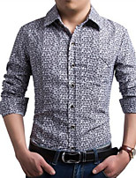 Men's Casual Long Sleeve Business Shirt (Cotton)