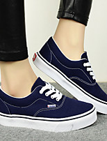 Women's Shoes Canvas Comfort/Round Flats/ Sneakers Black/LIght Blue/Light Green/Light Purple/Red/Dark Blue