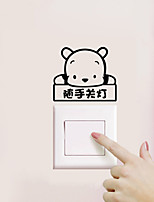 Wall Stickers Wall Decals Style Bear Switch PVC Wall Stickers