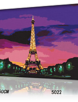 DIY Digital Oil Painting With Solid Wooden Frame Family Fun Painting All By Myself     Eiffel Tower 5022