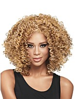 New Fashion Women's Glueless Deep Blonde Mix Curly Short Hair Wig for African American