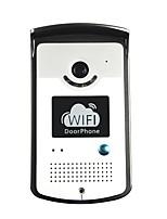 wifi ip timbre de la puerta de vídeo del teléfono de intercomunicación puerta con dos vías de voz, aplicaciones móviles y de detección de