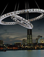 LED Ceiling Pendant Light Suspend Chandelier Lighting Lamp Fixtures with Clear K9 Crystal for Bedroom D6080cm CE UL