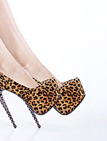 Women's Shoes Customized Materials Stiletto Heel Heels/Round Toe Pumps/Heels Party & Evening/Dress Animal Print