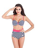 Bikini Da donna Fantasia floreale Imbottito / Con ferretto All'americana Nylon / Elastene