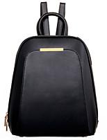 Women PU Bucket Backpack / Travel Bag - Yellow / Black