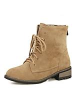 Zapatos de mujer Ante Sintético Tacón Robusto Cowboy Botas Casual Negro/Amarillo