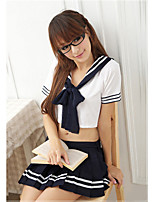 Women Uniforms & Cheongsams Nightwear , Cotton Blends