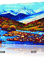 DIY Digital Oil Painting With Solid Wooden Frame Family Fun Painting All By Myself     Iceberg River 5039