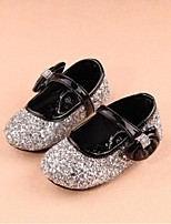 Zapatos de bebé - Planos - Casual - Tejido - Negro / Plata / Oro
