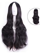 70 Cm Harajuku Cosplay Wigs Anime Party Women Sexy Long Wavy Synthetic Hair European American Natrual Black Wig