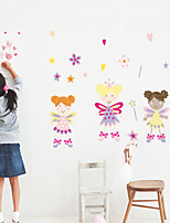 Wall Stickers Wall Decals Style Cartoon Girl PVC Wall Stickers