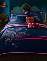 H&C 100% Cotton 800TC Duvet Cover Set 4-Piece Pink And Blue Background  HZ2-003