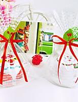 Santa Claus Snowman Shaped Cake Hand Towel Wedding Favors Christmas Towel Gift (Random Color)