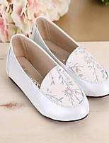 Flade sko ( Hvid/Guld ) - GIRL - Komfort