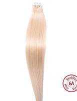 EVET Hair Products Brazilian Virgin Hair Silky Straight Hair PU Tape Human Hair Extensions 6A Grade 100g