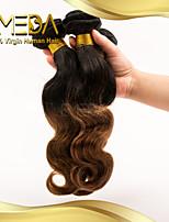 3pcs / lot cabelo virgem do corpo t-color brasileiro do cabelo da onda 100% da extensão do cabelo humano pacotes de tecer cabelo
