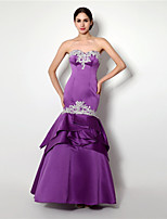 Formal Evening Dress - Lilac Trumpet/Mermaid Sweetheart Floor-length Satin