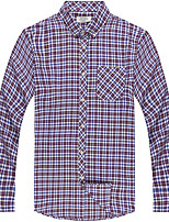 Men's Casual Long Sleeve Plaids Shirts