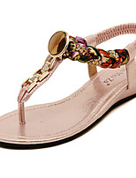 Women's Shoes Flat Heel Comfort Sandals Casual Black/Pink/Silver/Gold