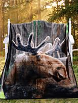 Couverture - 120cmx150cm - en 100% Polyester - Marron